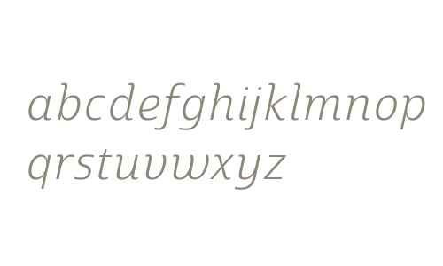 Marintas W01 Light Italic
