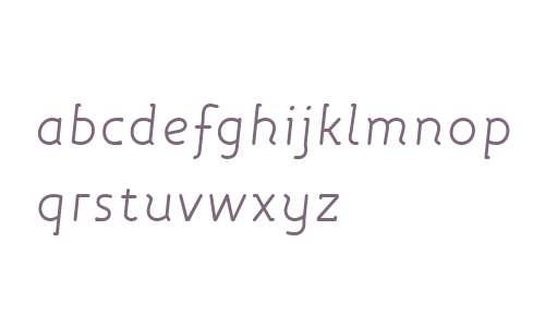 Roice OT W03 Light Italic