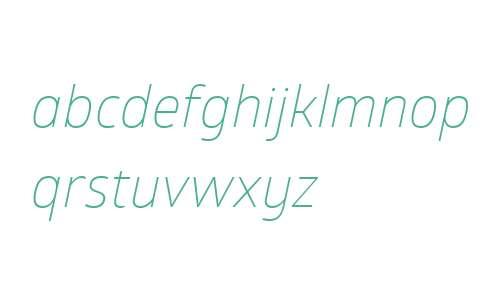 Glober W01 Light Italic