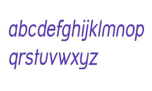 Street Variation - Narrow Italic