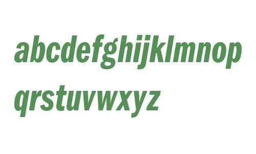 ITC Franklin Gothic LT Demi Compressed Italic