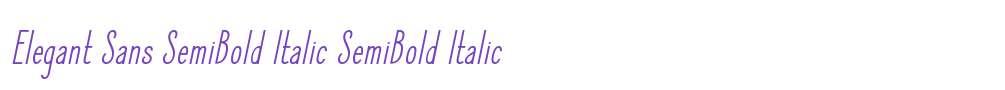Elegant Sans SemiBold Italic
