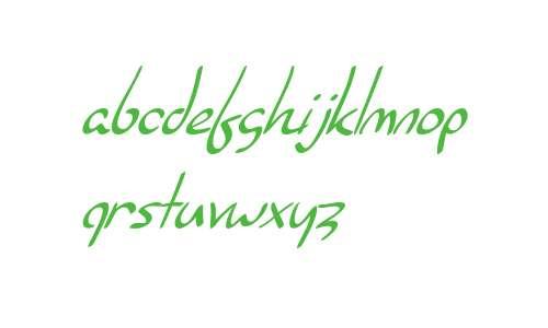 SF Burlington Script Italic V1 V2