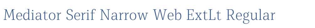 Mediator Serif Narrow Web ExtLt
