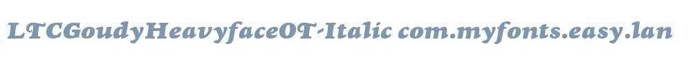 LTCGoudyHeavyfaceOT-Italic