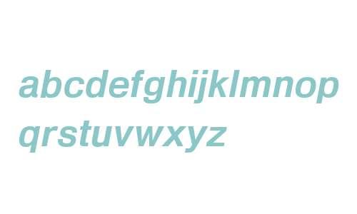 Heldustry W00 Demi Italic