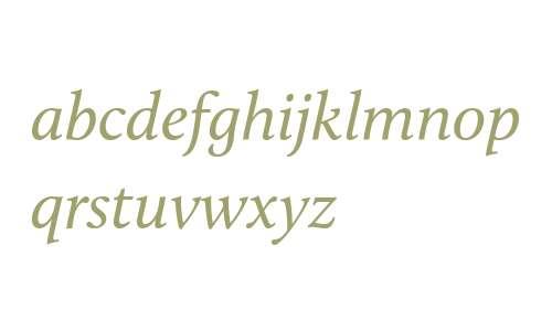 Calluna W05 Italic