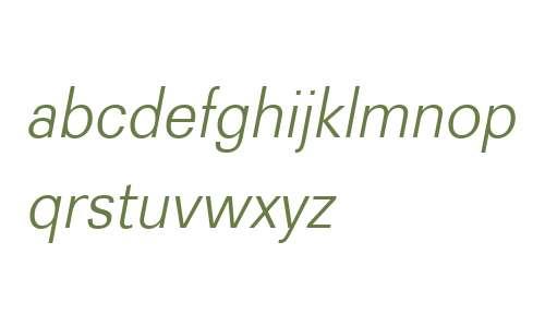 Recta W01 Light Italic