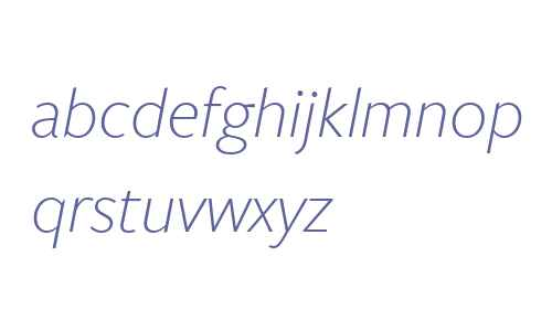 FreightSans W00 Light Italic