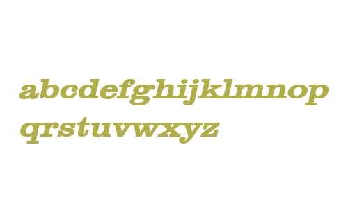 Clare Wide Bold Italic