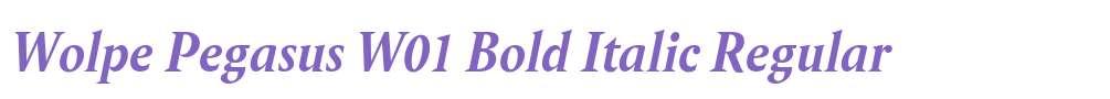 Wolpe Pegasus W01 Bold Italic