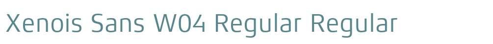 Xenois Sans W04 Regular
