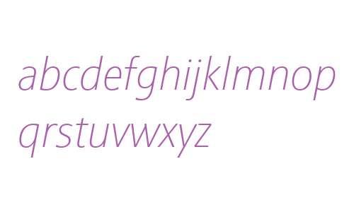 Sinova W01 Thin Italic