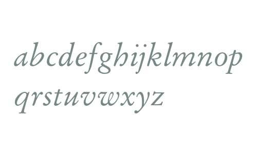 Stempel Garamond Italic Oldstyle Figures