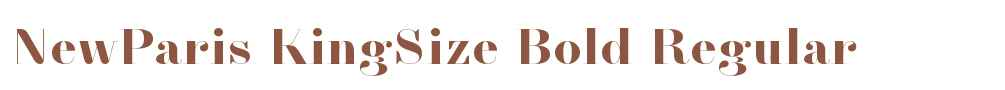 NewParis KingSize Bold