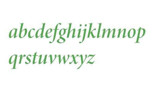 Minion Pro Semibold Italic Display