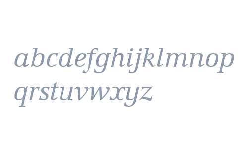 Marconi W04 Book Italic
