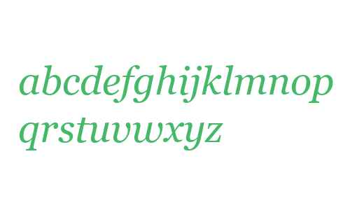 Georgia Italic