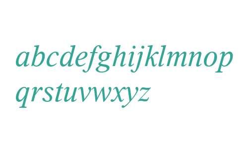 Thorndale W01 Italic