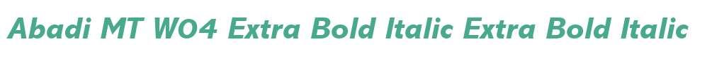 Abadi MT W04 Extra Bold Italic