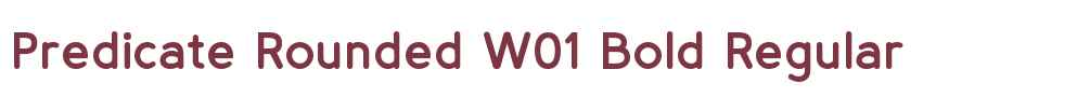 Predicate Rounded W01 Bold