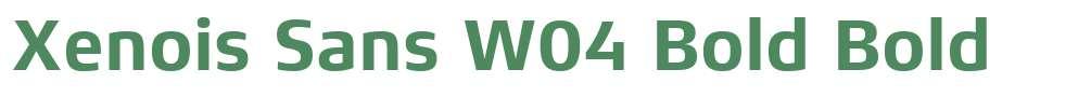 Xenois Sans W04 Bold