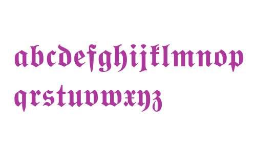Wittenberger Fraktur MT Bold