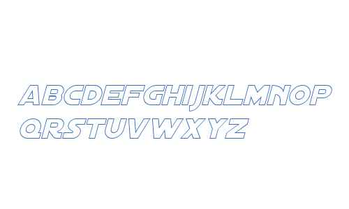 Distant Galaxy Outline Italic V1