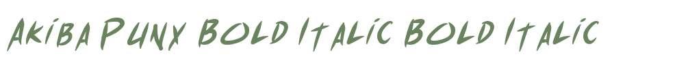 Akiba Punx Bold Italic