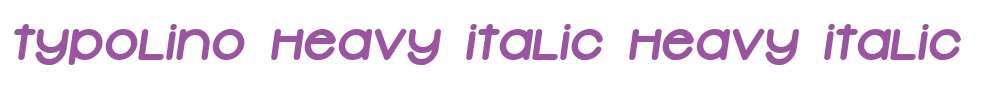 Typolino Heavy Italic