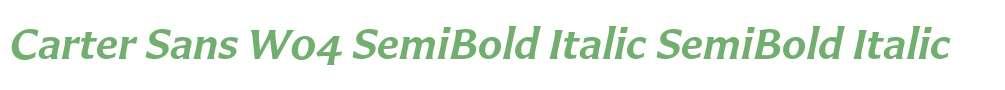 Carter Sans W04 SemiBold Italic