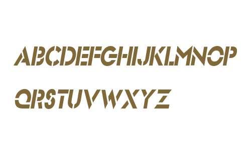 Stencil SansCondensed  Italic