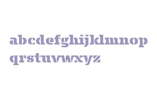 Signa Slab Stencil W03 Extblack