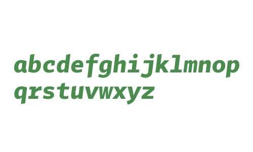 Tabac Mono Bold Italic