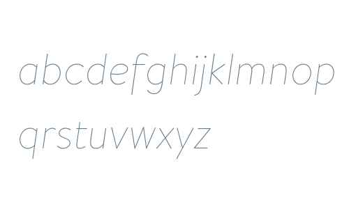 Brandon Text W04 Thin Italic