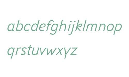Selfica W01 Light Italic