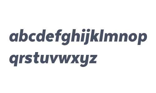 Texta Narrow W00 Black Italic