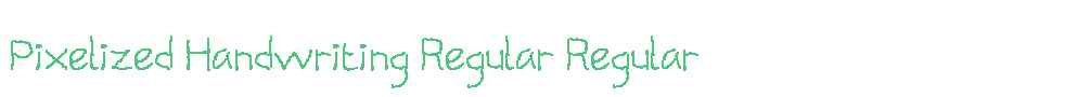 Pixelized Handwriting Regular