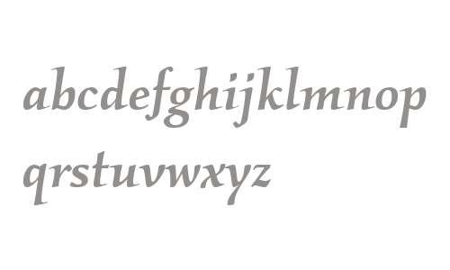 Kallos ITC W04 Medium Italic