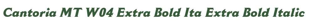 Cantoria MT W04 Extra Bold Ita