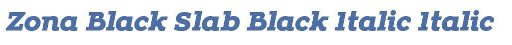 Zona Black Slab Black Italic
