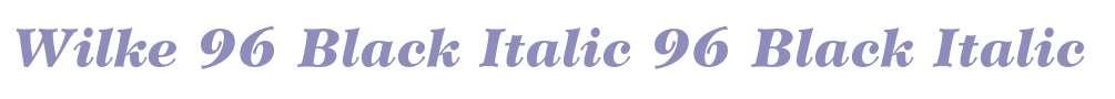 Wilke 96 Black Italic