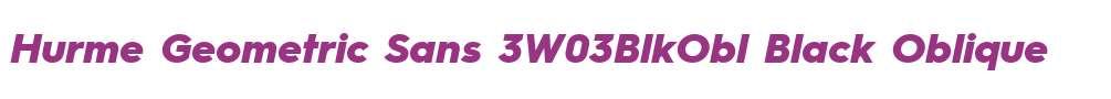 Hurme Geometric Sans 3W03BlkObl
