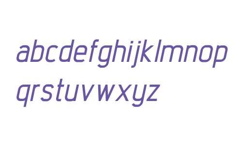 Intropol W00 Medium Italic