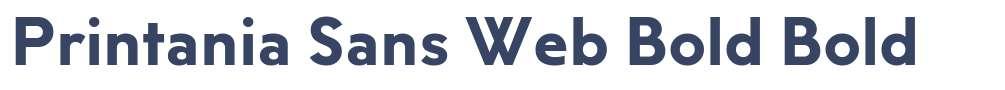Printania Sans Web Bold