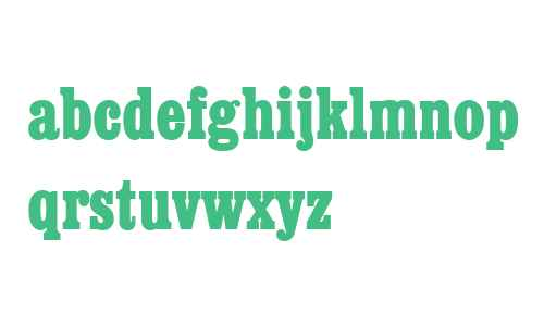Egyptienne W01 Bold Condensed