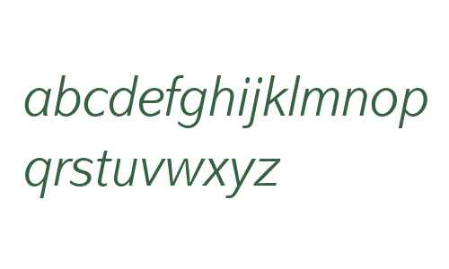 Abadi MT W04 Light Italic