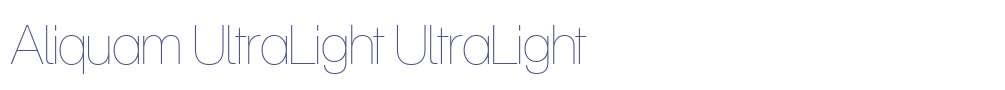 Aliquam UltraLight