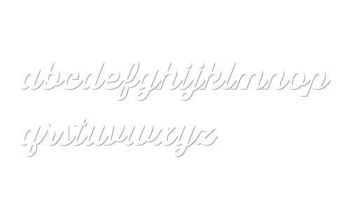 Thirsty Script W03 X Bd Shdw