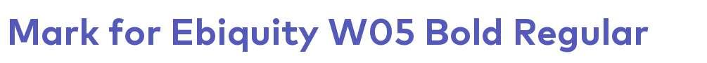 Mark for Ebiquity W05 Bold